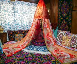 etsy, bed canopy, and bohemian bedroom image