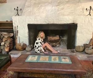 cozy, fireplace, and girl image