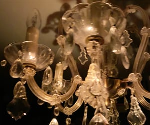 candlelight, castle, and chandelier image