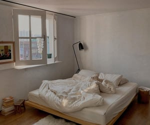 bedroom, home, and minimal image