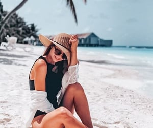 beach, holiday, and nature image