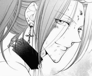black and white, manga, and girl image