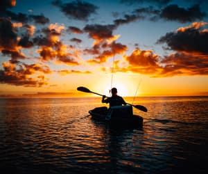 fishing, kayak, and kayaking image
