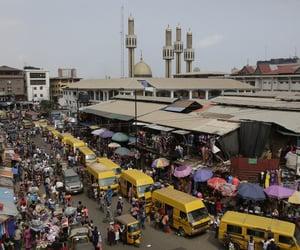market, urban, and nigeria image