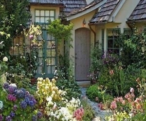 garden, flowers, and cottagecore image