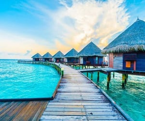 beautiful places, colorful, and Maldives image