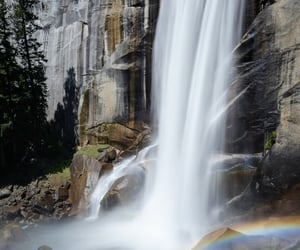 nature, water, and rainbow image