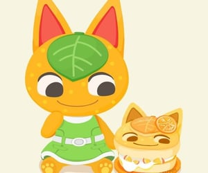 animal crossing, cat, and fruit image