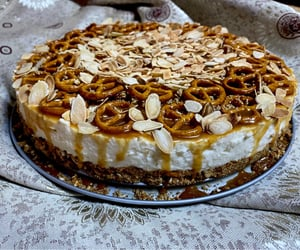 almond, salted caramel, and cheesecake image