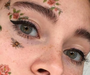 beautiful, blue, and makeup image