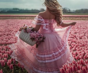 flowers, pink, and dress image