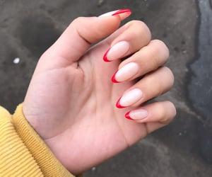 nail, nails, and red image