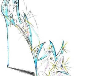 art, heel, and shoe image
