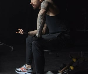 daddy, Tattoos, and handsome man image