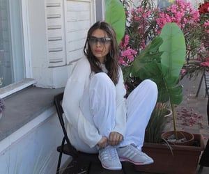 adidas, flowers, and white sweater image