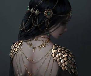 art, fantasy, and gold image