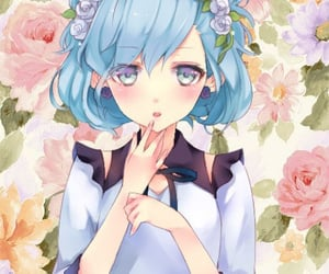 anime, earrings, and flower image