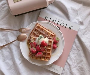 food, aesthetic, and waffles image