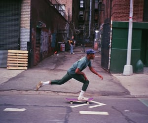 skater, streets, and sktateboard image