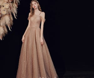 brown dress, formal dresses, and glitter dress image