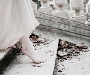 dress, feet, and white image