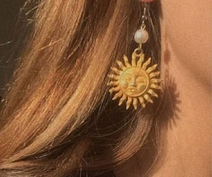 earring, hair, and girly image