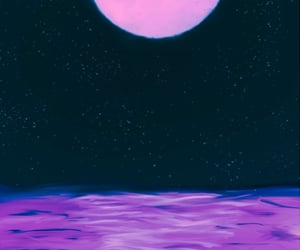 aesthetic, ocean, and purple image