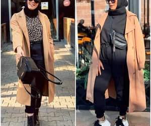 long jacket, camel coat hijab, and trench jacket image
