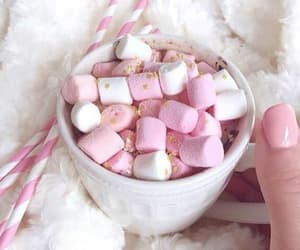 drinks, marshmallow, and pink image