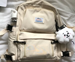 beige, rj, and backpack image