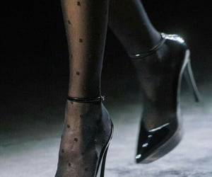 Alexander McQueen, black shoes, and Christian Dior image