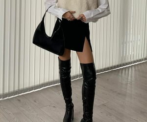 blogger, fashion, and mini skirt image