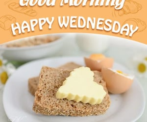 bread, eggs, and have a great day image