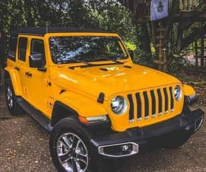 car, yellow, and jeep image