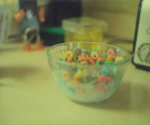 aesthetic, cereal, and childhood image