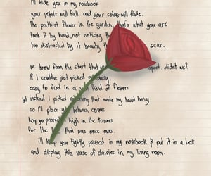 art, rose, and thorns image