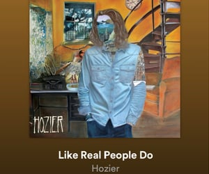 song, hozier, and like real people do image