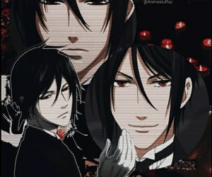 aesthetic, anime, and black butler image