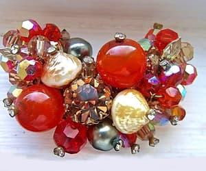 art glass, faux pearls, and lava beads image