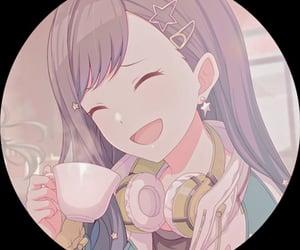 anime girl, coffee, and icon image