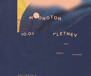 poster design, kuznya house, and moonoton image
