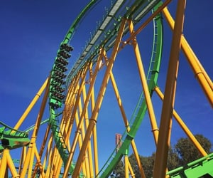 amusement park, ride, and rollercoaster image