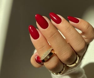 chic, nails, and red image