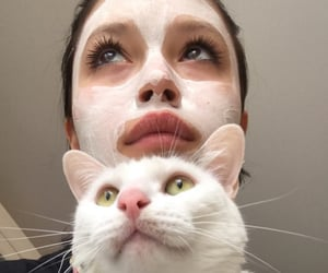 anime, cat, and make up image