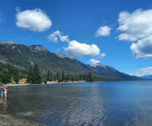 lago, naturaleza, and nubes image