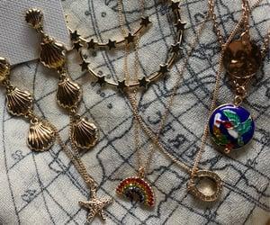 paris, rainbow, and earrings image