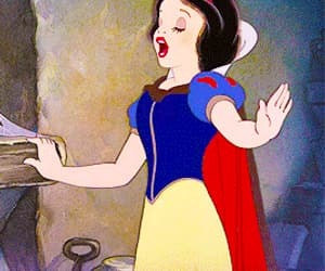 animation, disney, and snow white image