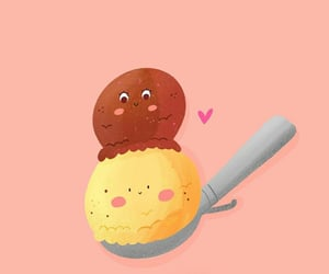 dibujo, ice cream, and funny pictures image