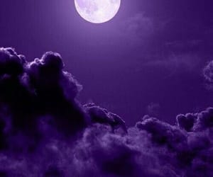 moon, purple, and wallpaper image