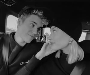 justin bieber, couple, and hailey bieber image